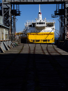 Railway loading dock of the ferry