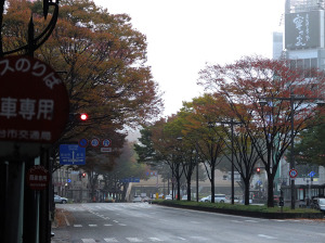 Early morning in Sendai