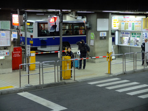 Sapporo bus terminal. Also a scene from Sora no Method