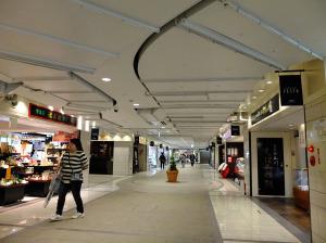 Station front underground arcade