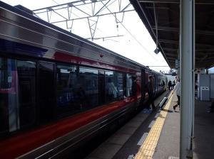 Train's here