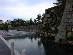 Takamatsu castle ruin wall