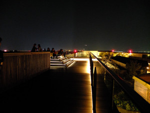 Roof top viewing platform, very popular with couples. There's constantly a security guard standing watch nearby.