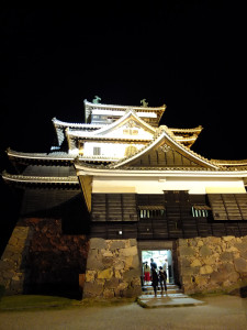 Matsue castle at night