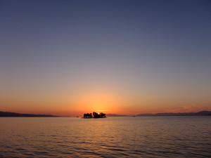 Sunset over Shinjiko lake