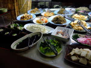 Wide selection of dishes