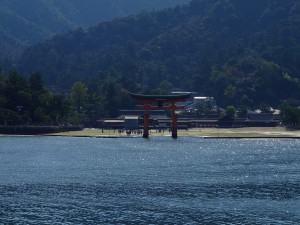 The giant torii in the distance